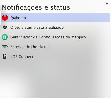 Área de notificação.