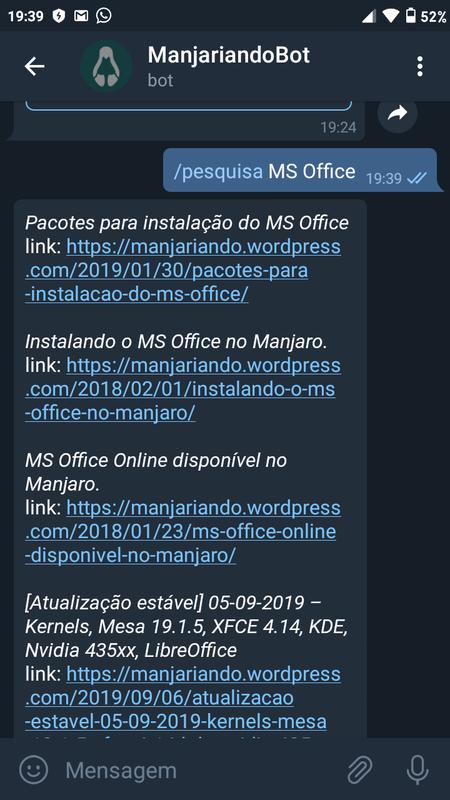 Pesquisando o MS Office.