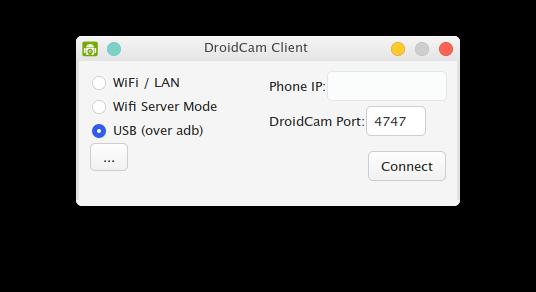 Configuração DroidCam.