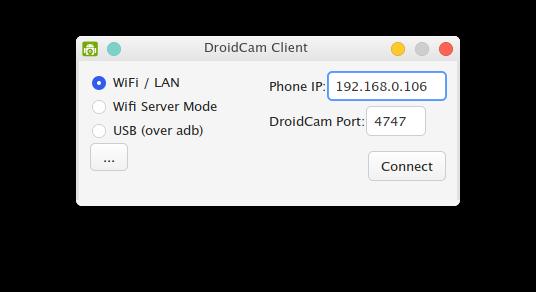 DroidCam no Manjaro.
