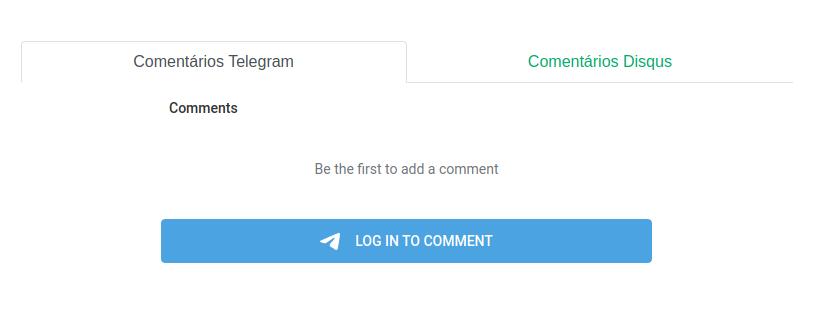 Comentário Telegram